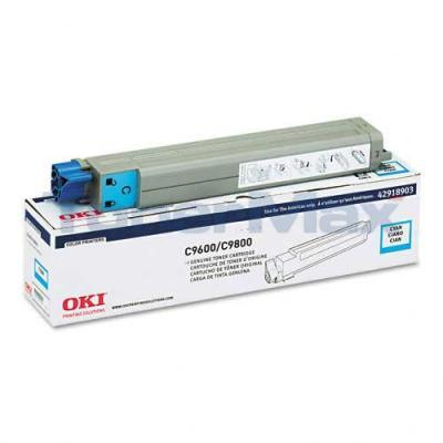OKIDATA C9600/9800 TONER CARTRIDGE CYAN
